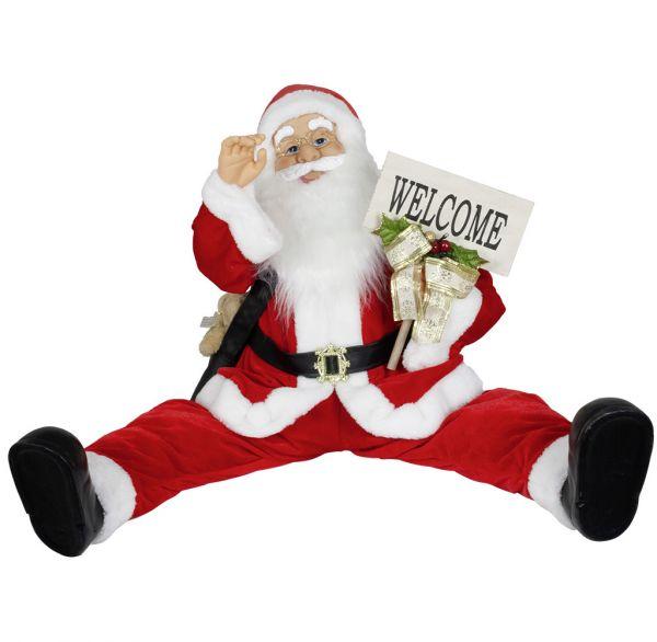 Animierter Weihnachtsmann 80cm flexible Beine LED Musik