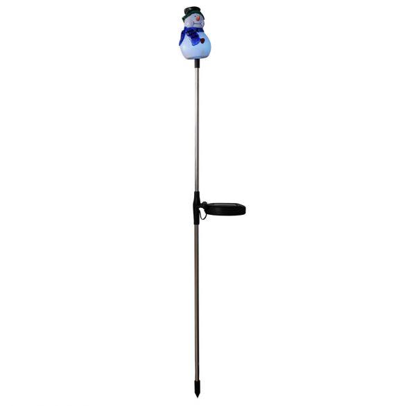 LED Solarleuchte Schneemann, 86cm, 4er-Pack, Farbwechsel