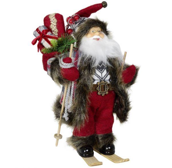 Weihnachtsmann 30cm Darius auf Ski