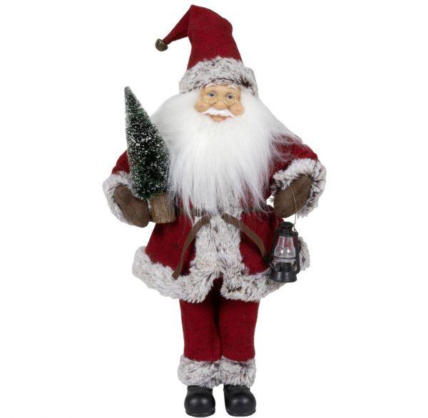 Spieluhr aufziehbarer Weihnachtsmann 45cm Kopfdrehung & Musik