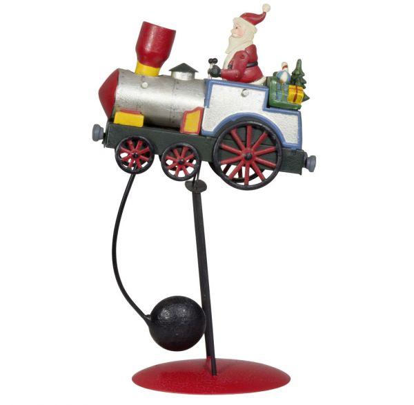 Tischdeko Weihnachtlicher Balance Pendel Zug Höhe 34cm