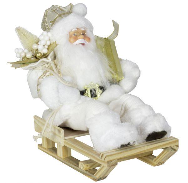 Weihnachtsmann 30cm Paul auf Schlitten