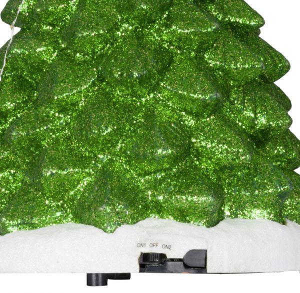 Animierte Spieluhr LED & Musik Weihnachtsbaum 34cm